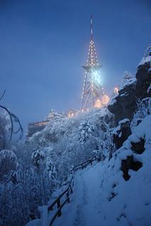 Weihnachtliche Beleuchtung auf dem Uetliberg-Turm