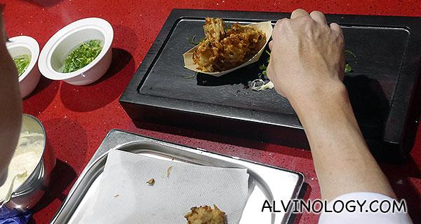 Chef Teo plating
