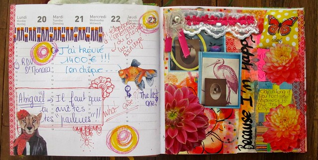 The documented life project /la barbouille/semaine 4/art journal /mixed média