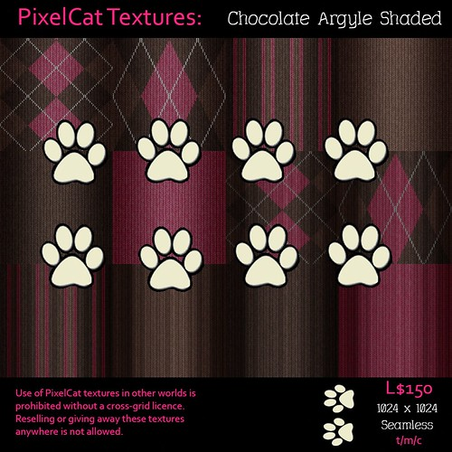 PixelCat Textures - Chocolate Argyle Shaded