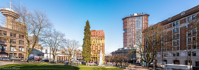 Panorama of Victory Square Vancouver