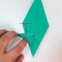 สอนวิธีการพับกระดาษเป็นรูปปลาฉลาม (Origami Shark) 022