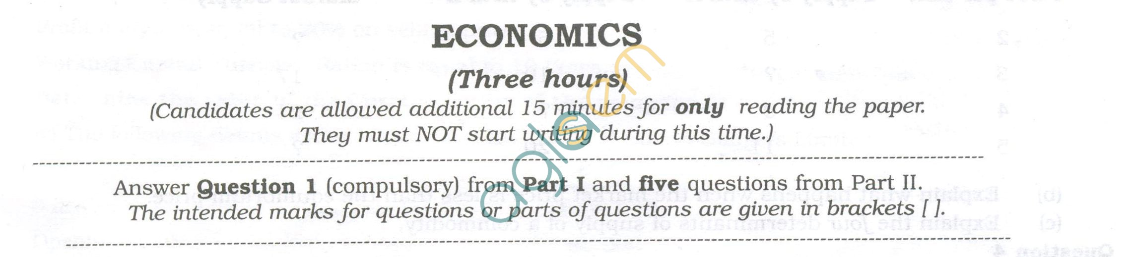 ISC Question Papers 2013 for Class 12 - Economic