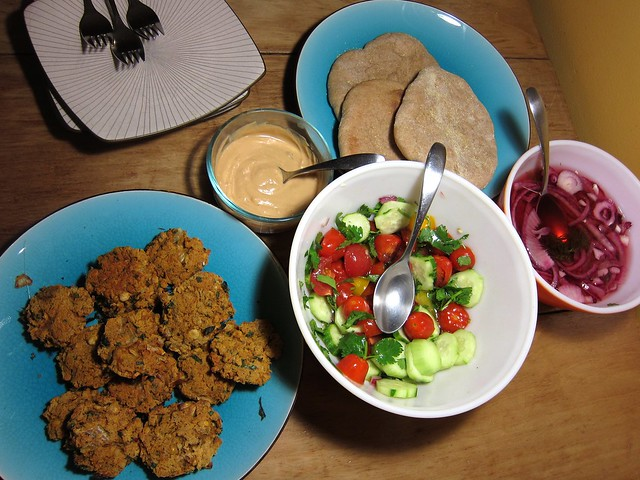 Falafel feast (minus the sesame)
