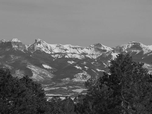 winter blackandwhite snow mountains rural colorado ridgway sanjuanmountains cimarronmountains