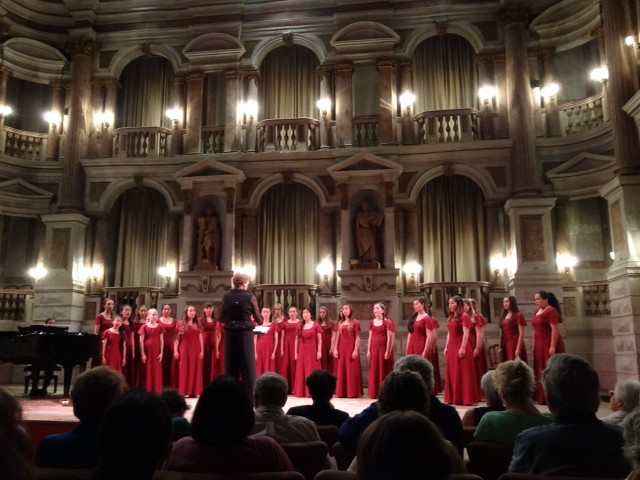 The Young Women's Chorus of San Francisco performs in the Teatro Bibiena in Mantua