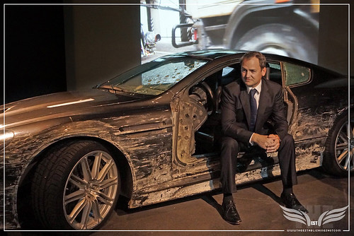 The Establishing Shot: BOND IN MOTION - BEN COLLINS BOND STUNT DRIVER IN THE ASTON MARTIN DBS FROM QUANTUM OF SOLACE @ LONDON FILM MUSEUM COVENT GARDEN by Craig Grobler