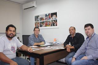 João Paulo, coordenador do MST, Paulinho da Força e os vereadores de Rosana (SP) Walter Gomes e Roberto Júnior
