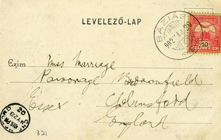 Postmarked Báziás : Essex Farmers visit Hungary  and reach the Danube at the Serbian border in 1902