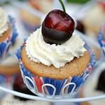 Gluten free choc chip vanilla cupcakes