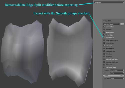 Exporting hard edges/Smoothing groups in Blender | Player Studio