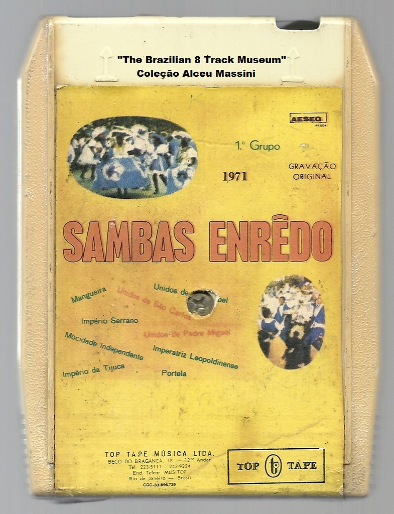 1971 - Carnaval do Rio de Janeiro / Sambas-Enredo - brazilian 8 track - fita cartucho de 8 pistas