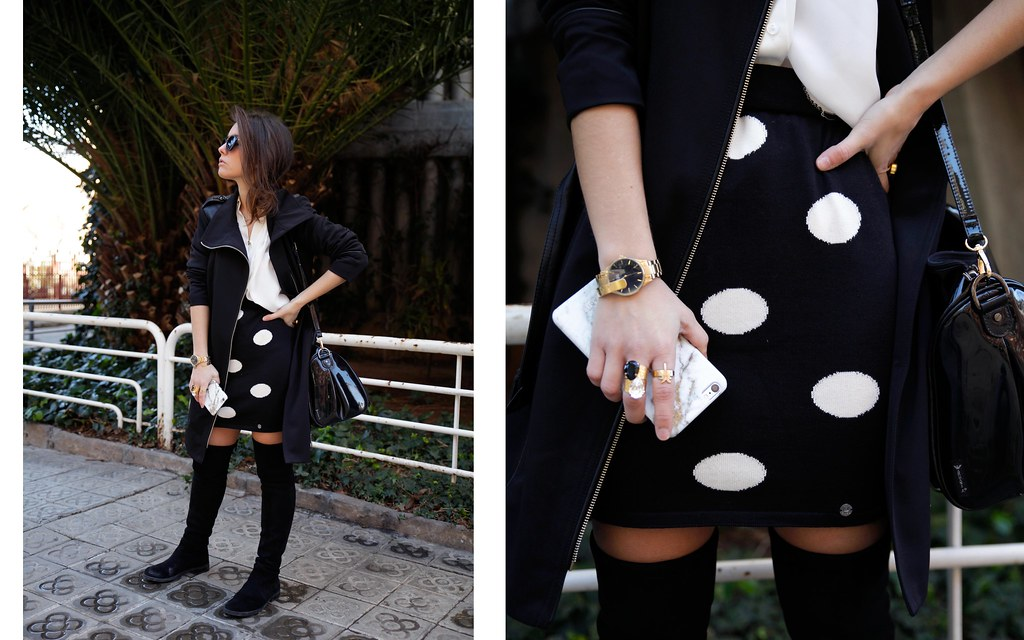 07__skirt_dots_black_and_white_outfit_theguestgirl_ruga_shop_online_long_boots