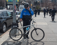 NYPD Bicycle Police Officer, 2017 Yankees Home Opener at Yankee Stadium, The Bronx, New York City