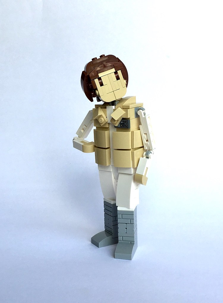 Hoth Leia (custom built Lego model)