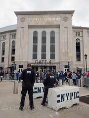 NYPD Counterterrorism Police Officers at Yankee Stadium, The Bronx, New York City