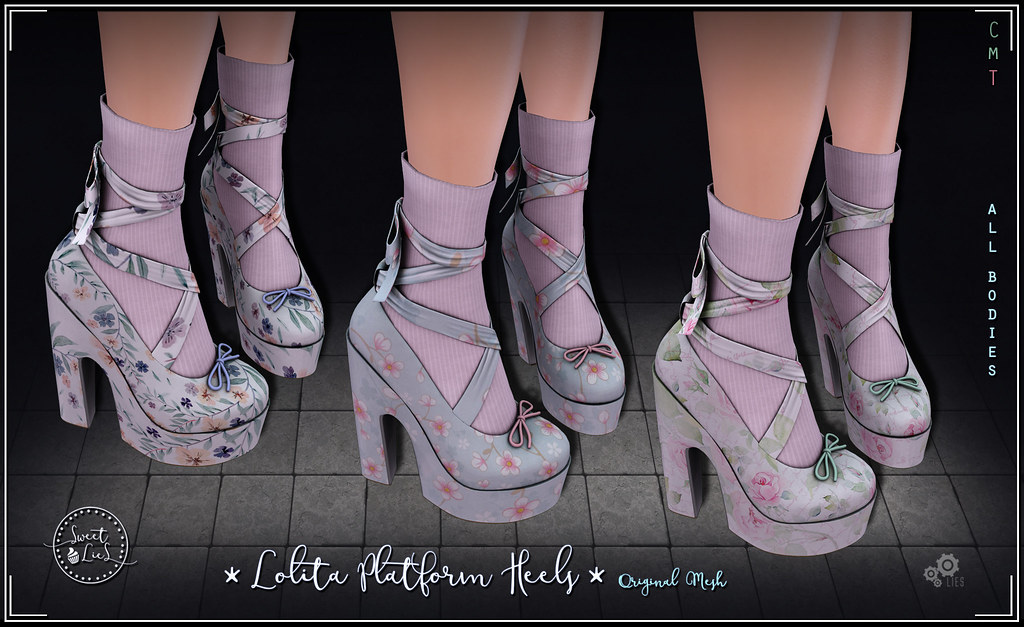 Lolita Platform Heels Pack #3 - Sweet Lies Original - SecondLifeHub.com