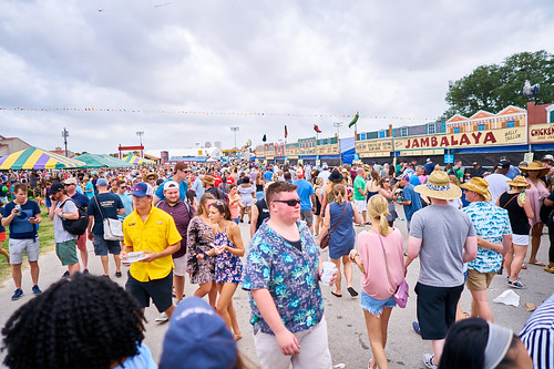 Food time! Saturday, April 29, 2017 - Jazz Fest Day 2. Photo by Eli Mergel.