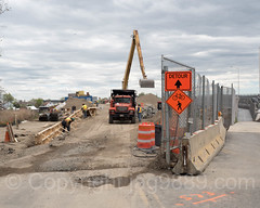 New City Island Bridge (under construction) over Eastchester Bay, Rodman's Neck - City Island, Bronx, New York City