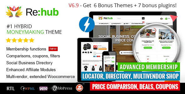 REHub WordPress Theme free download