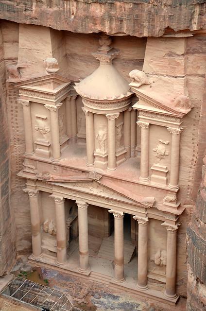 The Treasury from above, Petra, Jordan
