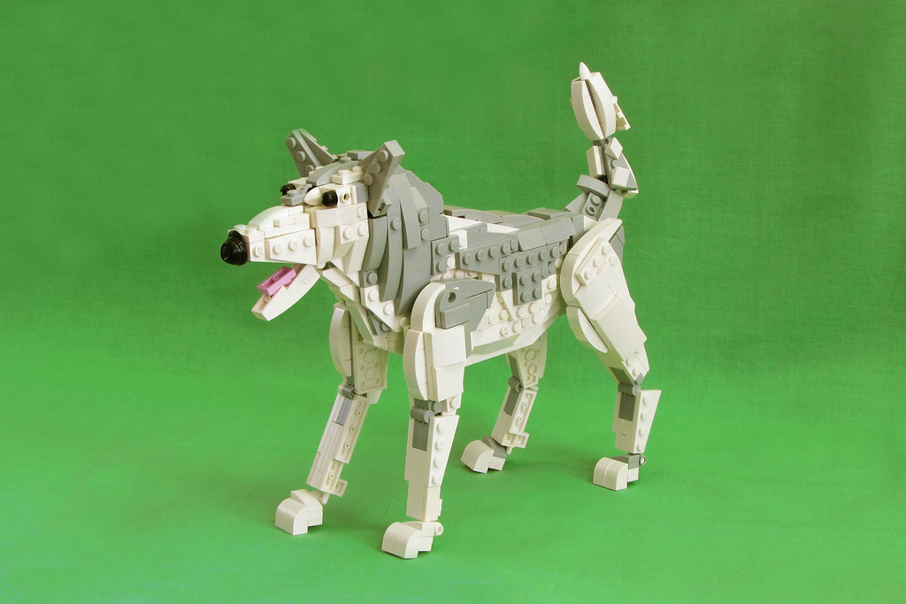 The dog's happiness. (custom built Lego model)