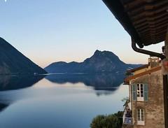 Happy eastern!  #view from #hotel in #Gandria #Lugano #switzerland #svizzera #sunrise #lake #iloveswitzerland #travel #trip #instatravel #instadaily #ig_schweiz #relax #tranquility #serenity