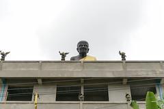 Giant, cranky, black buddha