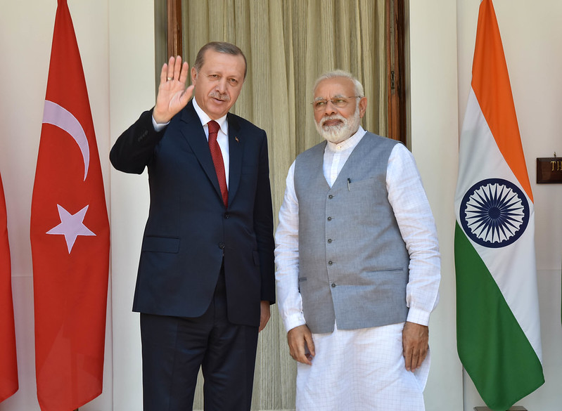 Prime Minister meets Recep Tayyip Erdogan, President of Turkey at Hyderabad House during his State Visit to India (May 01, 2017)
