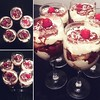 Mascarpone cream, Nutella and raspberries play on Tiramisu. Served in glasses so everyone in the house can have an individual dessert tomorrow. I cannot wait to eat it! So delicious. :ice_cream::thumbsup: Don't you just love the little things in life? :in