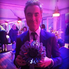 That time when I was at at the #AudiPolo and handed James Nesbitt a 3D-printed lunar rover wheel and discovered he rates Berlin as one of the top three cities in the world... #latergram #audiolunarquattro #jamesnesbitt #audi #Berlin #mycrazylife #audiluna
