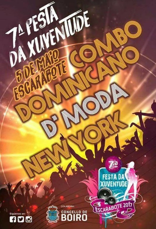 Boiro 2017 - VII Festa da Xuventude de Escarabote - cartel