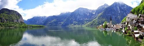 Hallstatt Lake Panorama. Hallstätter See. Austria