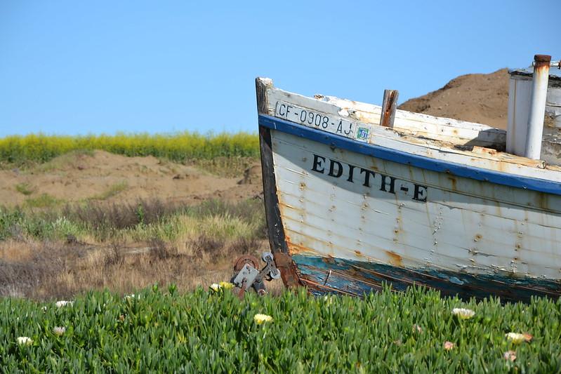 Pont avant d'un vieux bateau