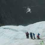 Helicopter Landing at Franz Josef Glacier - South Island, New Zealand