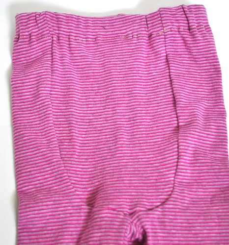 Pink and Silver Striped Leggings *12-24 Months*