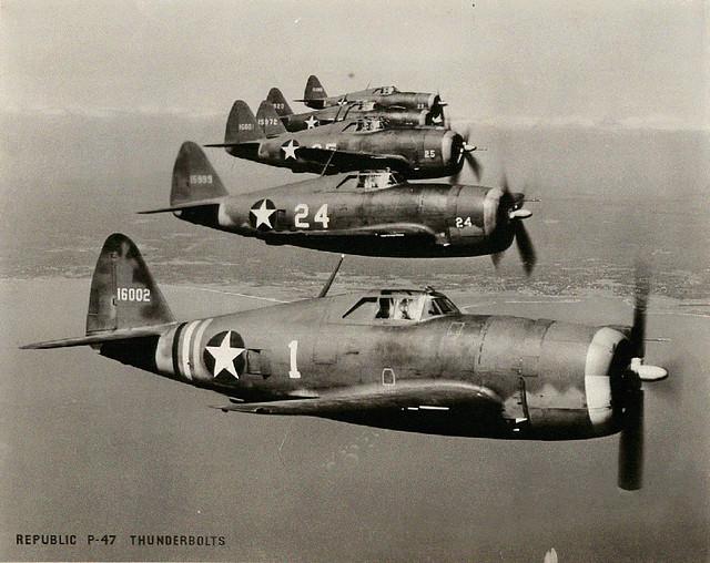 A P-47 Thunderbolt formation