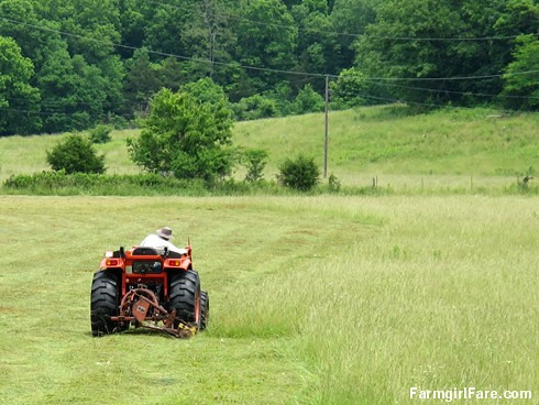 (30-2) Not many people around here use an antique sickle bar mower to cut hay anymore, but it works and it's paid for - FarmgirlFare.com