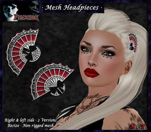*P* Flamenco Fan MESH Headpieces
