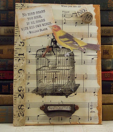 Antiquities Bird Cage Collage