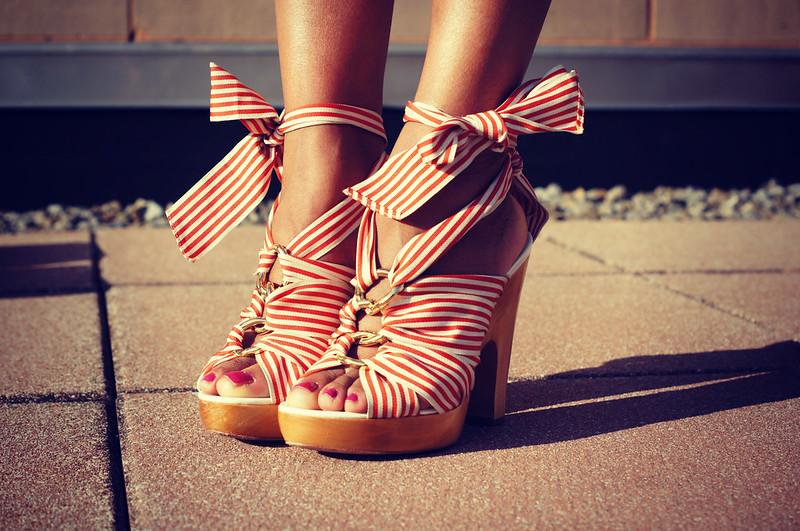 Coach Striped Sandals