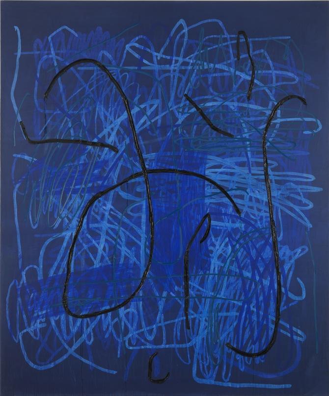 11 Jana Schröder, Spontacts, Ö1, 2012, 240 x 200 cm, Kopierstift und Öl auf Leinwand