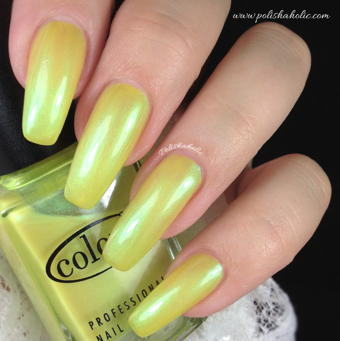 Color Club - Volt Of Light - Sheer Shimmery Yellow Neon ...