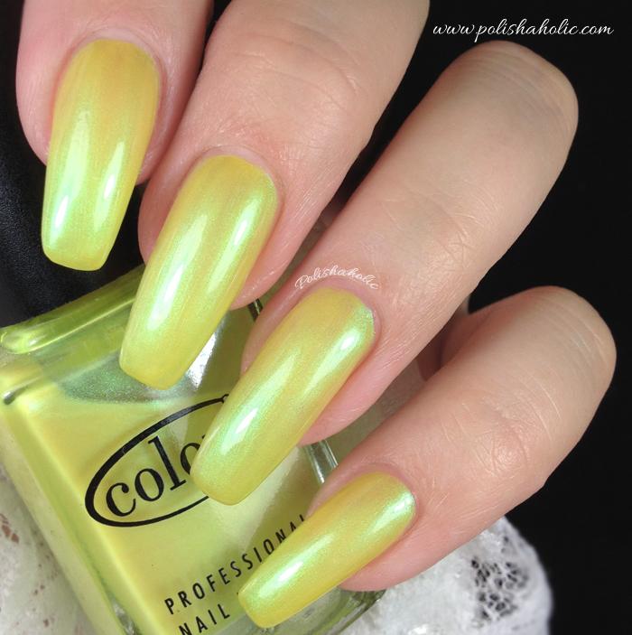 Sheer Shimmery Yellow Neon
