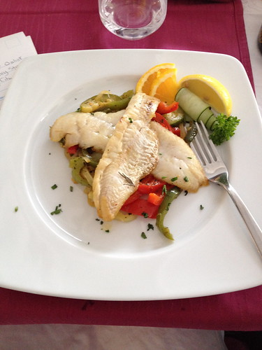Fish filet at Restaurant Milenij, Makarska