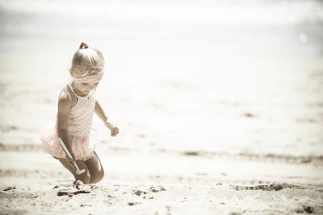 Our little beach bunny...