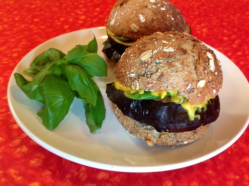 Roasted Eggplant Sliders