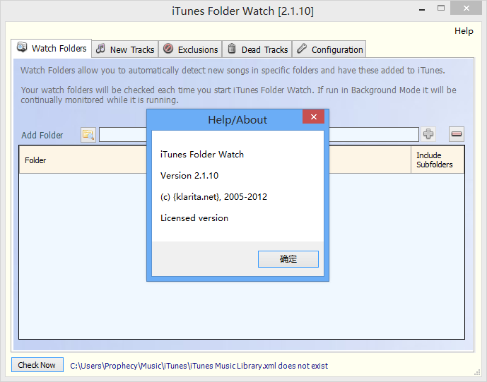 iTunes Folder Watch 2.1.10