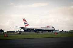 Arrival of the British Airways Airbus A380