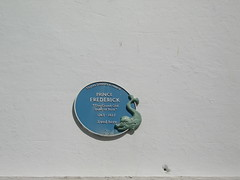Photo of Frederick Augustus blue plaque